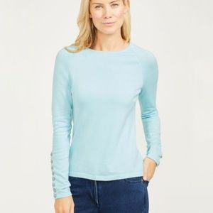 J.McLaughlin Jamey Cashmere Sweater Light Blue XL